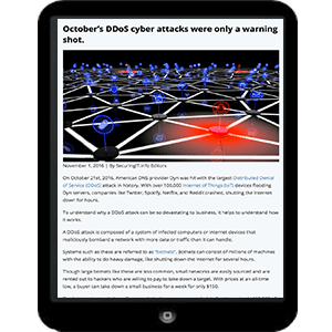 DDOS attacks and how to protect yourself